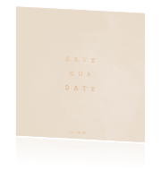 Chique en minimalistische save the date