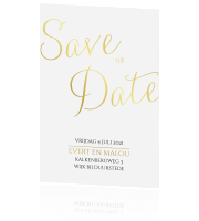 Minimalistische save the date met folie