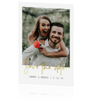 Minimalistische save the date met foto