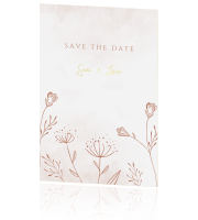 Save the date met veldbloemen