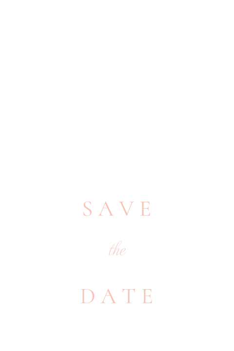Minimalistische wit met roze save the date
